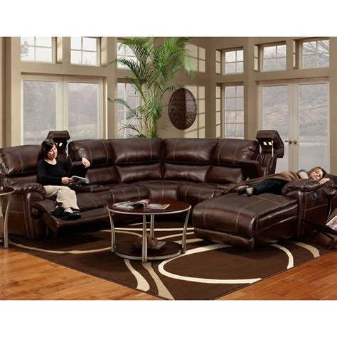 presley sectional franklin presley chocolate faux leather motion 4 piece
