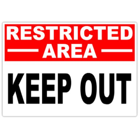 restricted keep out 101 restricted safety sign templates