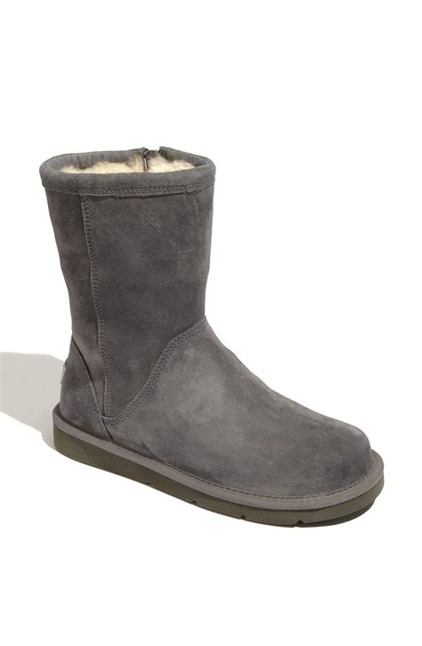 grey ugg boots for ugg roslynn boot in gray grey lyst