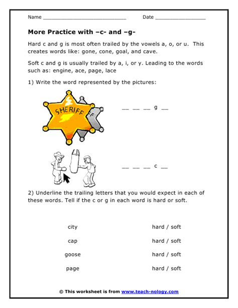 Soft C And G Worksheets by And Soft G Worksheets Abitlikethis