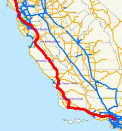 map of highway 101 in california california map
