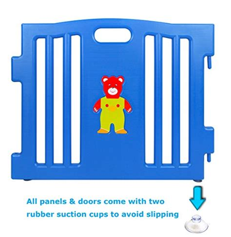 Munchkin 6pcs Soft Tip mcc plastic baby playpen 8 sides with activity panel at