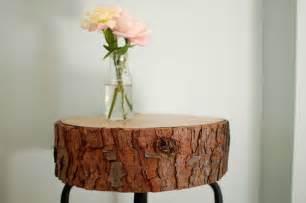 Tree Stump Nightstand Diy Wood Cross Section Decor Ideas