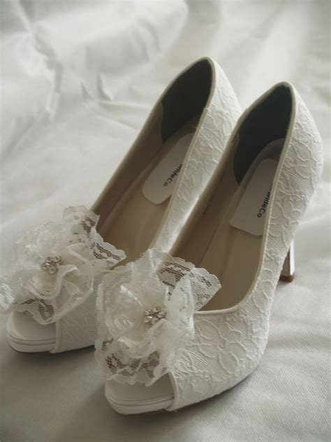 white lace high heels wedding shoes white lace high heels white lace flower