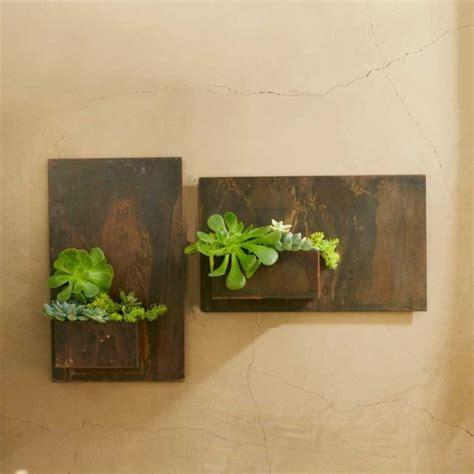 metal planter wall art contemporary indoor pots