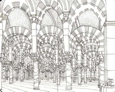 great mosque cordoba sketch book materials
