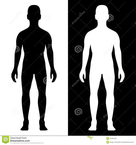white silhouette man body silhouette stock vector illustration of body