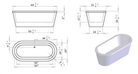 bathtub specifications oval freestanding soaking bathtub specs