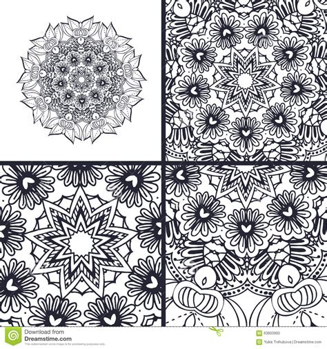 ottoman motifs vector abstract coloring pages with mandala islam arabic