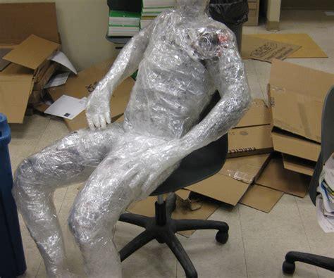 human tape sculpture