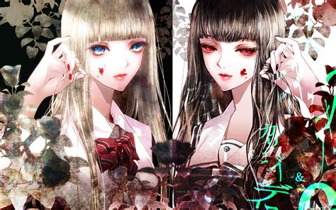 wallpaper anime twins kiyohara hiro illustration twins mystic blood