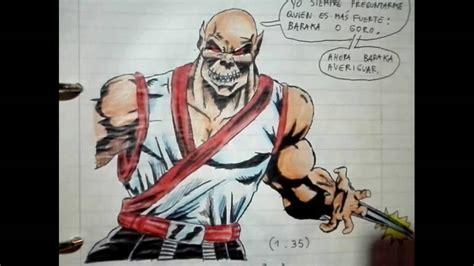 imagenes a lapiz de mortal kombat mis dibujos mortal kombat youtube