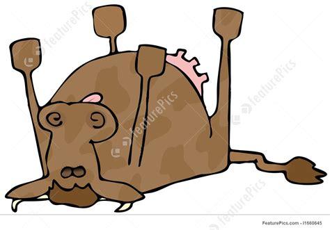 Illustration Of Dead Cow Art Clipart Logo