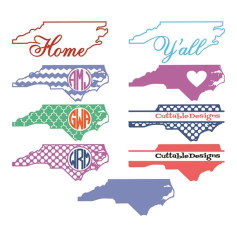 carolina home state svg cuttable designs