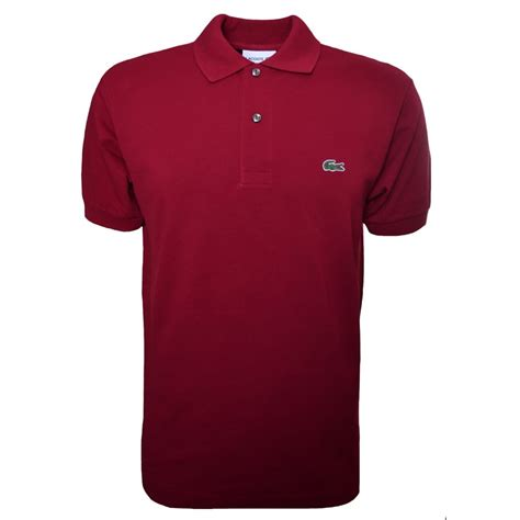 s lacoste burgundy polo shirt