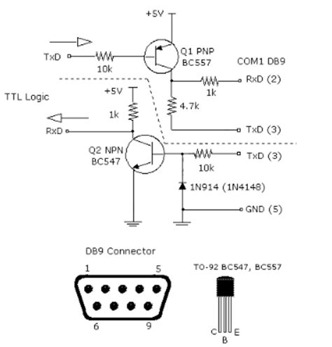 transistor user level attachment browser simple ttl rs232 level converter using transistor circuit schematic diagram