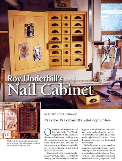 Cabinet Nail by Nail Cabinet Plans Woodarchivist