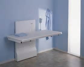 Laundry Room Folding Table Ideas White Wall Mounted Changing Folding Table For Laundry Room With Blue Wall Interior Color And