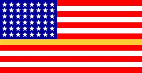 48 flags with gold or stripes u s
