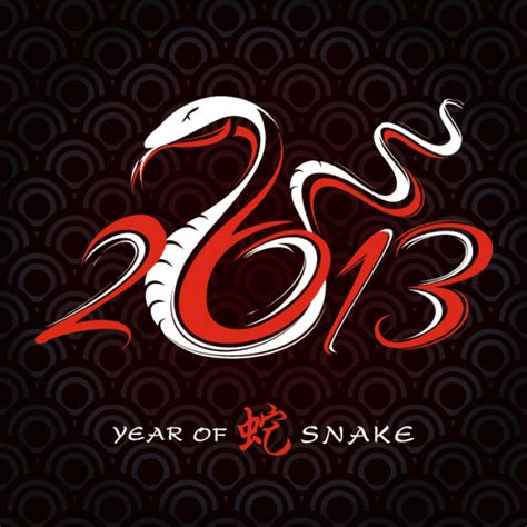 year of the snake 2013 year of the snake design vector 01 free