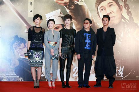 chinese film group leading actors promote quot flying swords quot