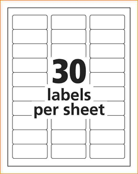 Template For Avery Return Labels | address label template avery 8160 templates resume