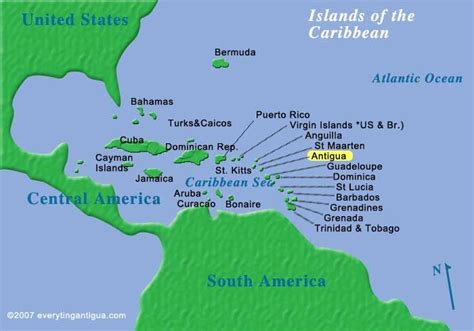 antigua and barbuda map antigua location reefview apartments cades bay antigua