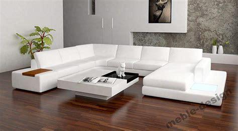 White Leather Chairs For Sale Design Ideas Narożnik Sk 211 Rzany Sofa P 211 łka Podświetlana Kanapa Zdjęcie Na Imged