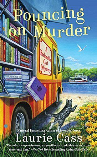 literally a pepper cozy mystery books pouncing on murder a bookmobile cat mystery by laurie