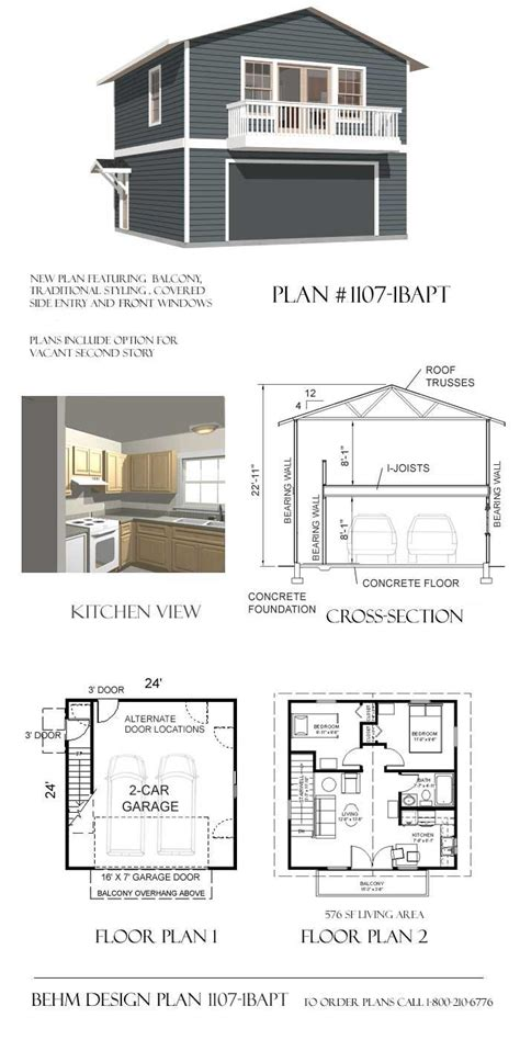 Apartment Garage Plans by Garage Apartment Plan 1107 1bapt Studio Guest House
