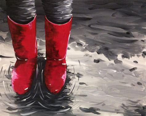 paint nite kent wa learn to paint wading in wellies