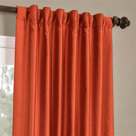 faux dupioni silk curtains buy blood orange yarn dyed faux dupioni silk curtains
