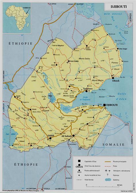 djibouti map djibouti africa map djibouti africa mappery