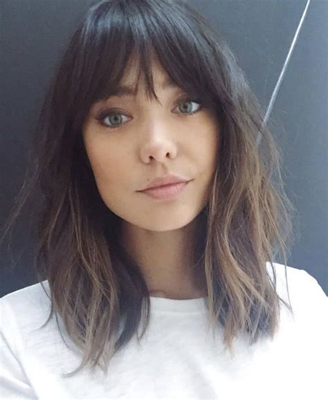 hairstyles with fringe shoulder length medium length with fringe bangs loganstanton hair