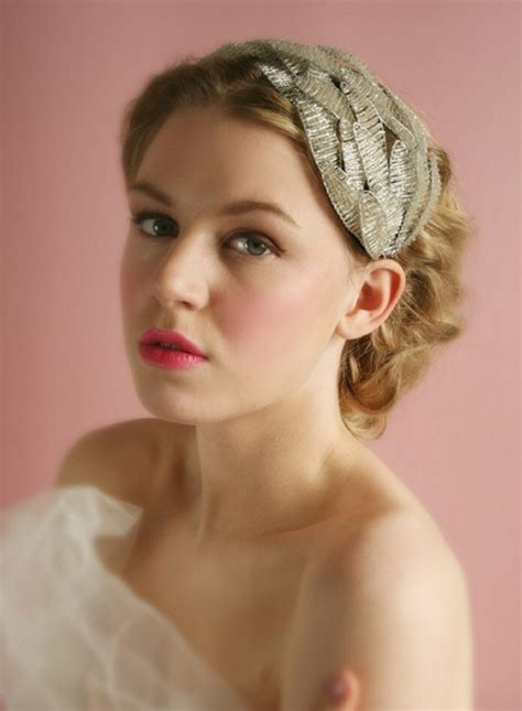 headband hairstyles medium hair short wedding hairstyle with headband pretty designs