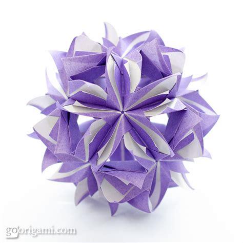 Origami Kusudama - origami flower kusudama www imgkid the image