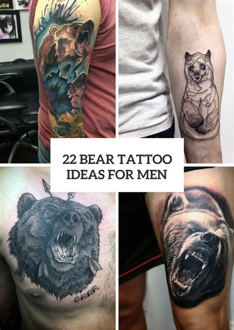 bear tattoo designs for men 22 ideas for real styleoholic
