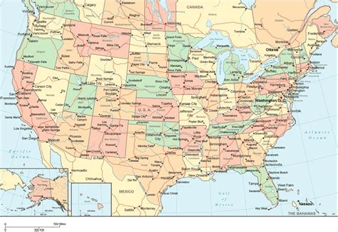 United States Map With Cities Name | united states map with state names us map with cities