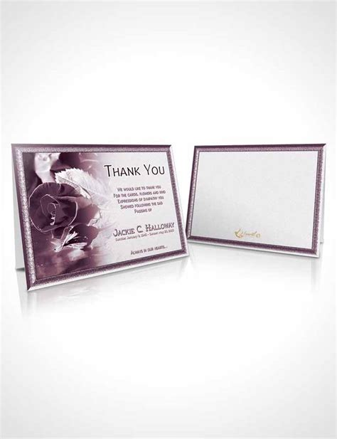 beautiful thank you card template thank you card template a beautiful lavender