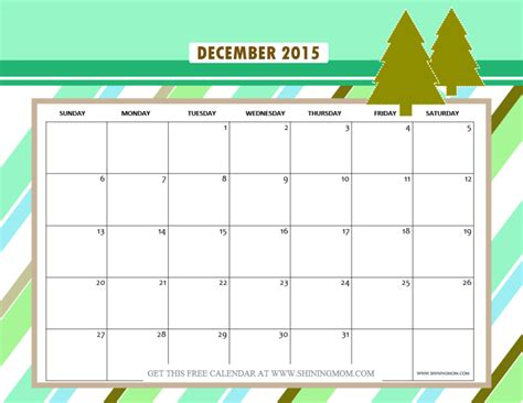 printable christmas december 2015 calendar pdf december 2015 calendars christmas themed designs