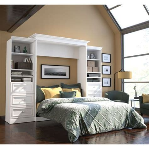 white murphy bed bookcase costco sells murphy beds who knew bestar audrea queen