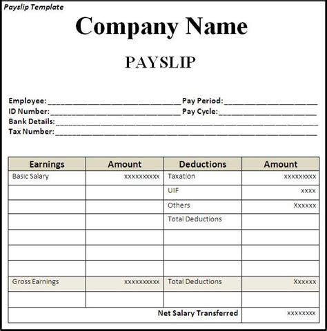 up slip template get employee pay slip template format projectmanagersinn