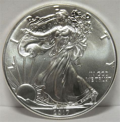 2017 american eagle silver dollar uncirculated coin - 1 Oz Silver One Dollar 2017