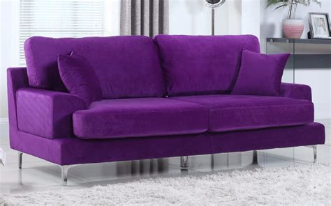 Velvet Modern Sofa Purple Velvet Sofa Purple Sofas You Ll Wayfair Thesofa