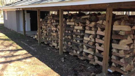 Diy Car Port Mobile Wood Rack System For A Wood Burning Boiler Youtube