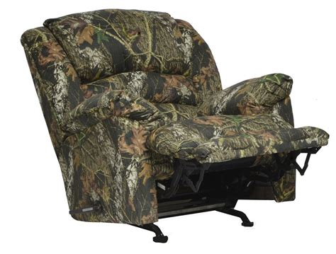 realtree camouflage rocker recliner duck dynasty yosemite chaise rocker recliner with heat and
