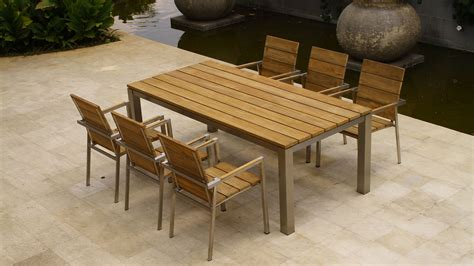wooden patio dining sets furniture modern outdoor teak wood for seating sets also