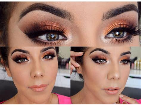 imagenes de ojos naranjas maquillaje ahumado naranja youtube