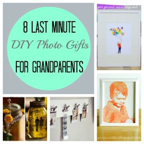 Handmade Grandparent Gifts - 8 last minute diy photo gifts for grandparents