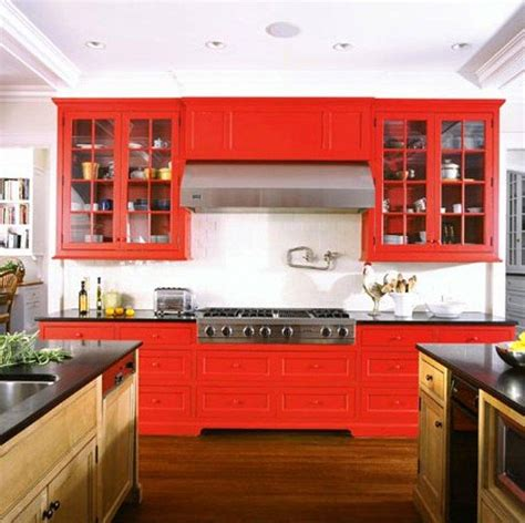 bright kitchen cabinets 15 contemporary kitchen designs with red cabinets rilane